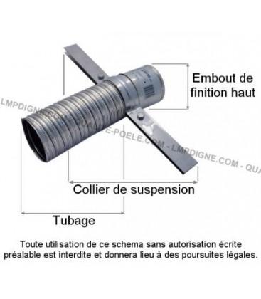 Collier de suspension pour tubage Diam.80/86
