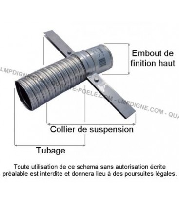 Collier de suspension pour tubage Diam.80/86