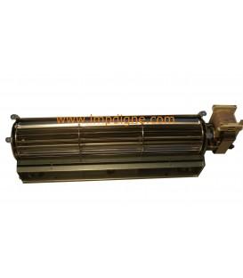 Ventilateur tangentiel pour poêle à granulés 30cm moteur à droite